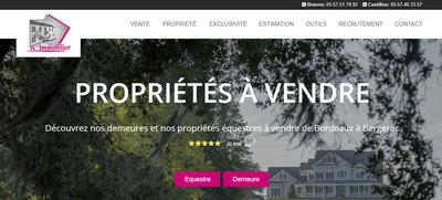 Création site immobilier - Bordeaux (SC Immobilier)