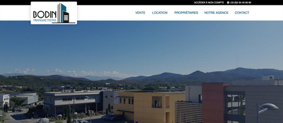Création site immobilier - Bodin Transactions
